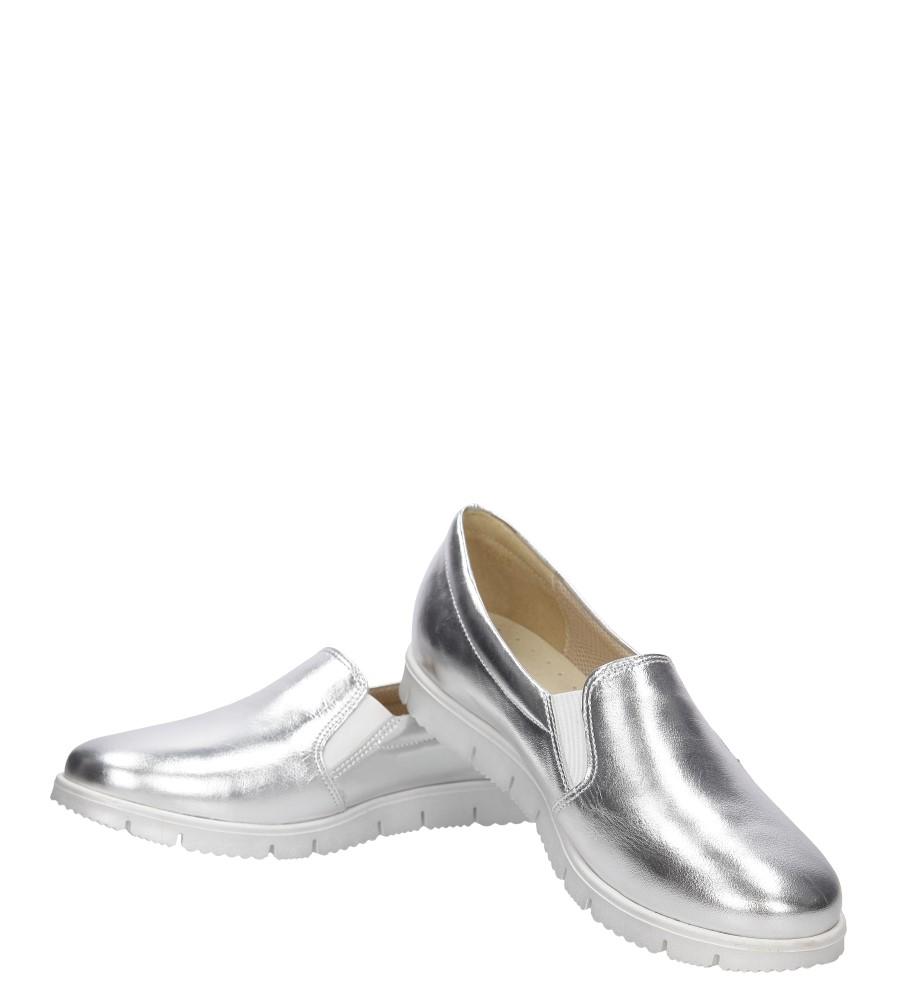 Damskie SLIP ON CASU 3151 srebrny;;