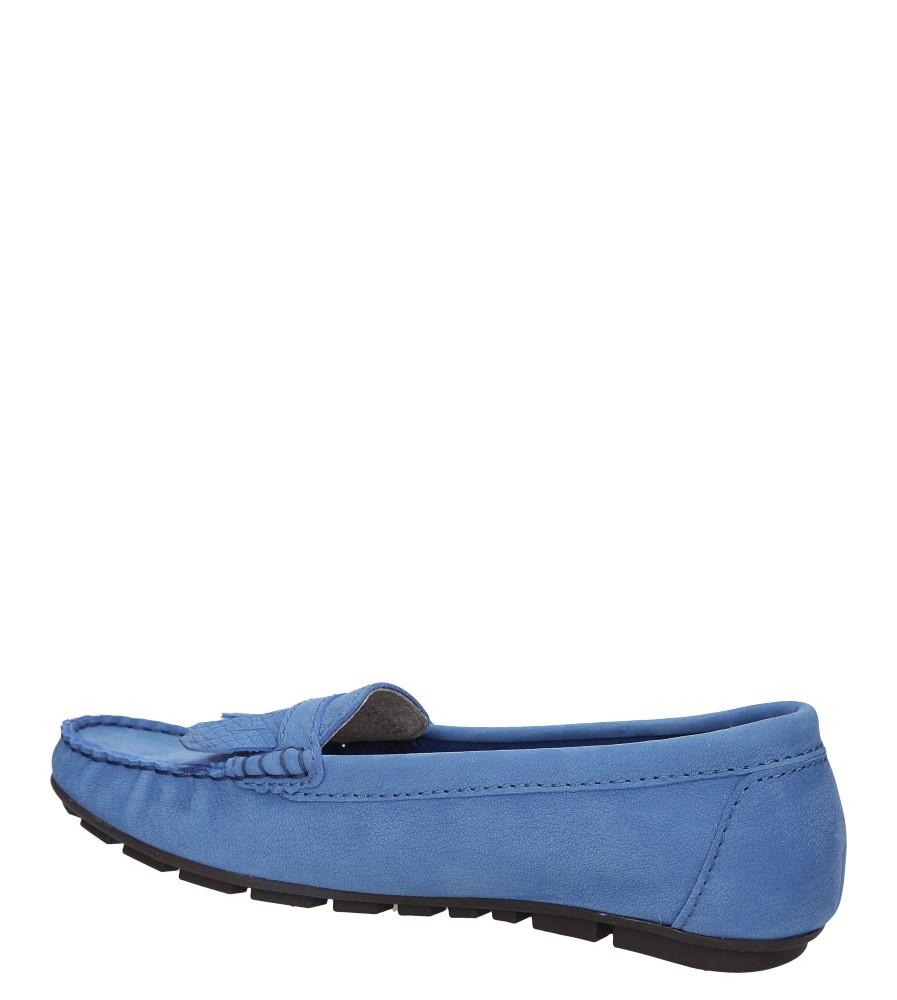 Damskie MOKASYNY NESSI 78406 niebieski;;