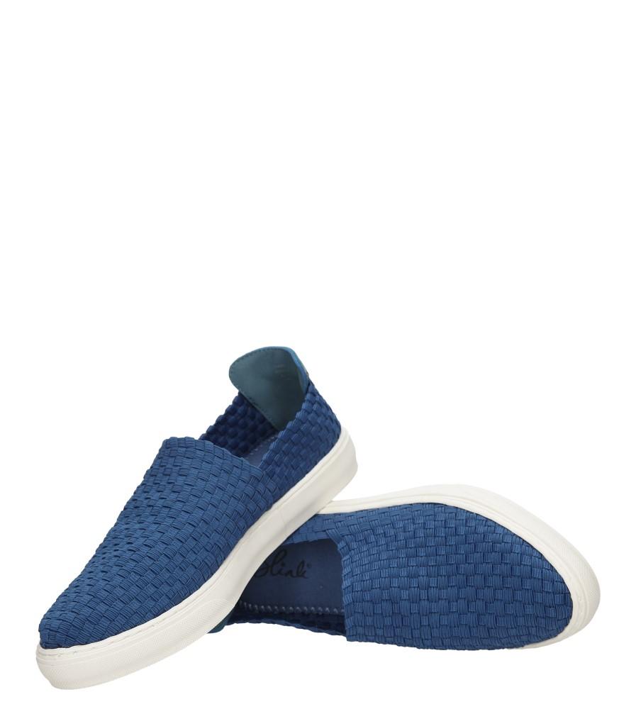 Damskie SLIP ON BLINK 601611-C niebieski;;
