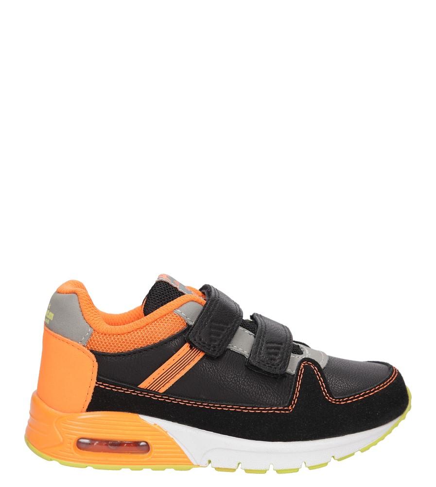 Dziecięce SPORTOWE AMERICAN K151330 czarny;pomarańczowy;
