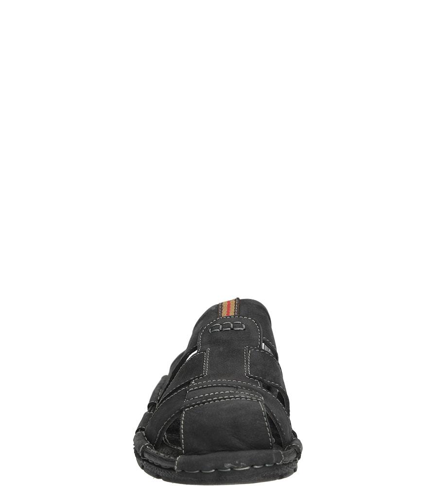 Męskie KLAPKI 9418-1 czarny;;