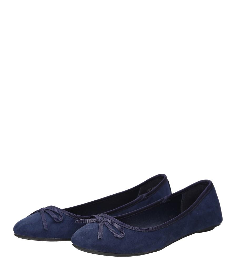 Damskie BALERINY 01337 niebieski;;