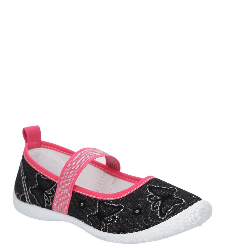Dziecięce TRAMPKI HASBY T1901C czarny;różowy;