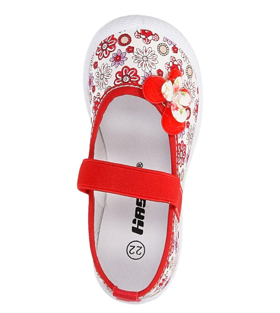 TRAMPKI HASBY T1900 kolor biały, czerwony