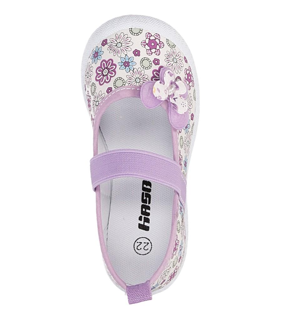 Dziecięce TRAMPKI HASBY T1900 fioletowy;biały;