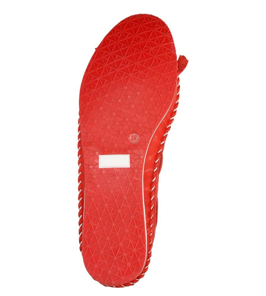 Damskie MOKASYNY LANQIER 38C1254 czerwony;;