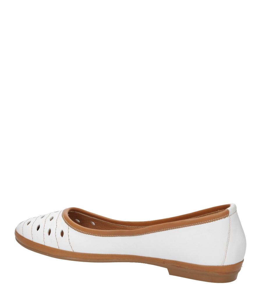 Damskie BALERINY LANQIER 38C463 biały;;
