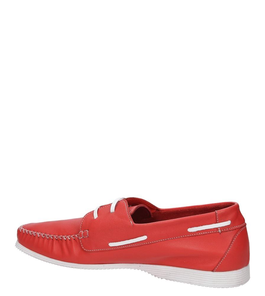 MOKASYNY LANQIER 38A484 kolor czerwony