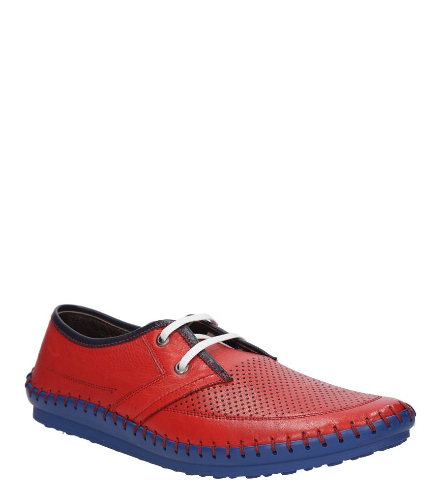 Męskie PÓŁBUTY LANQIER 38A421 czerwony;niebieski;
