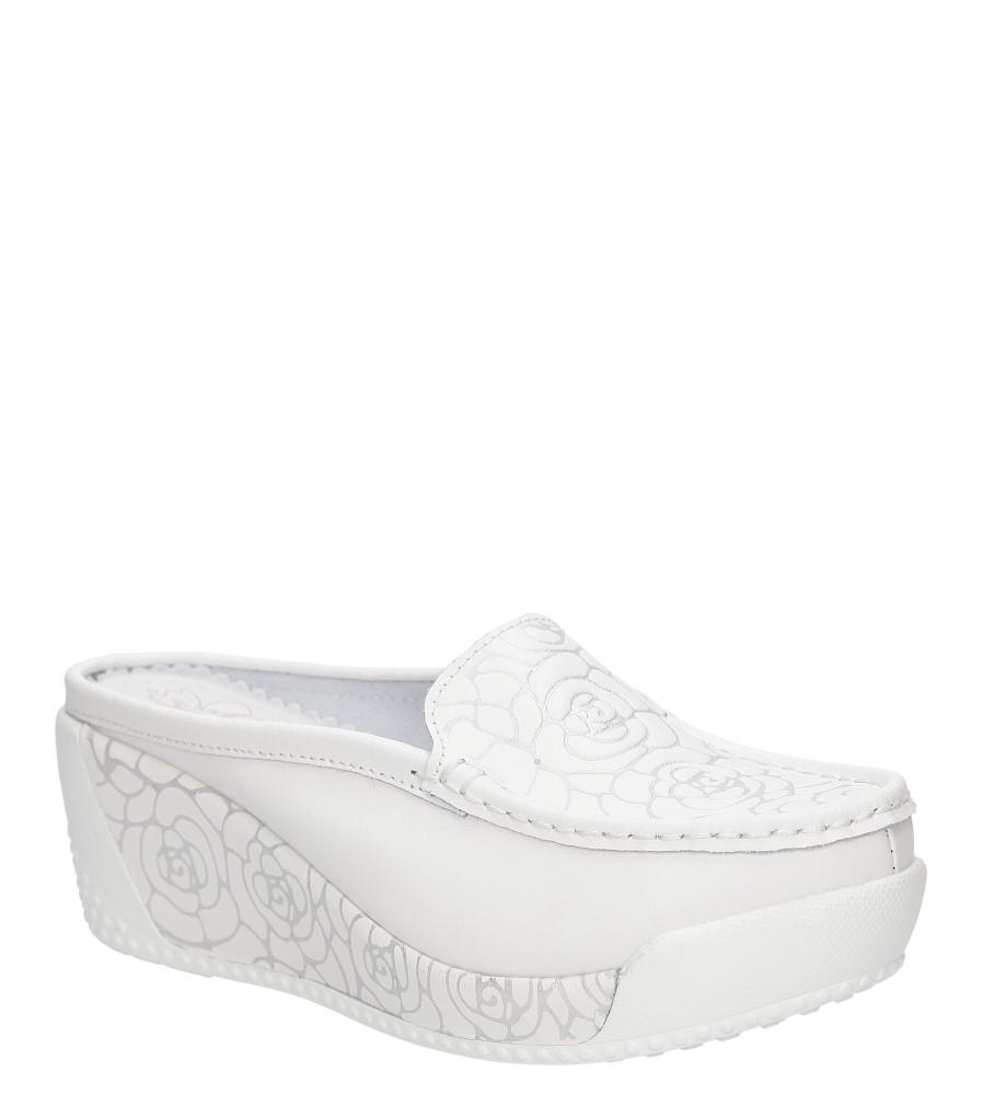 Damskie KLAPKI LANQIER 38C530 biały;;