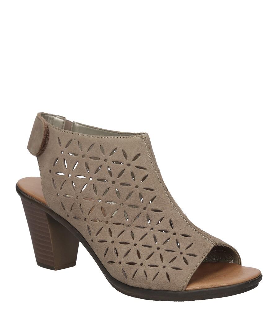 Sandały skórzane ażurowe na słupku Rieker 64196 producent Rieker