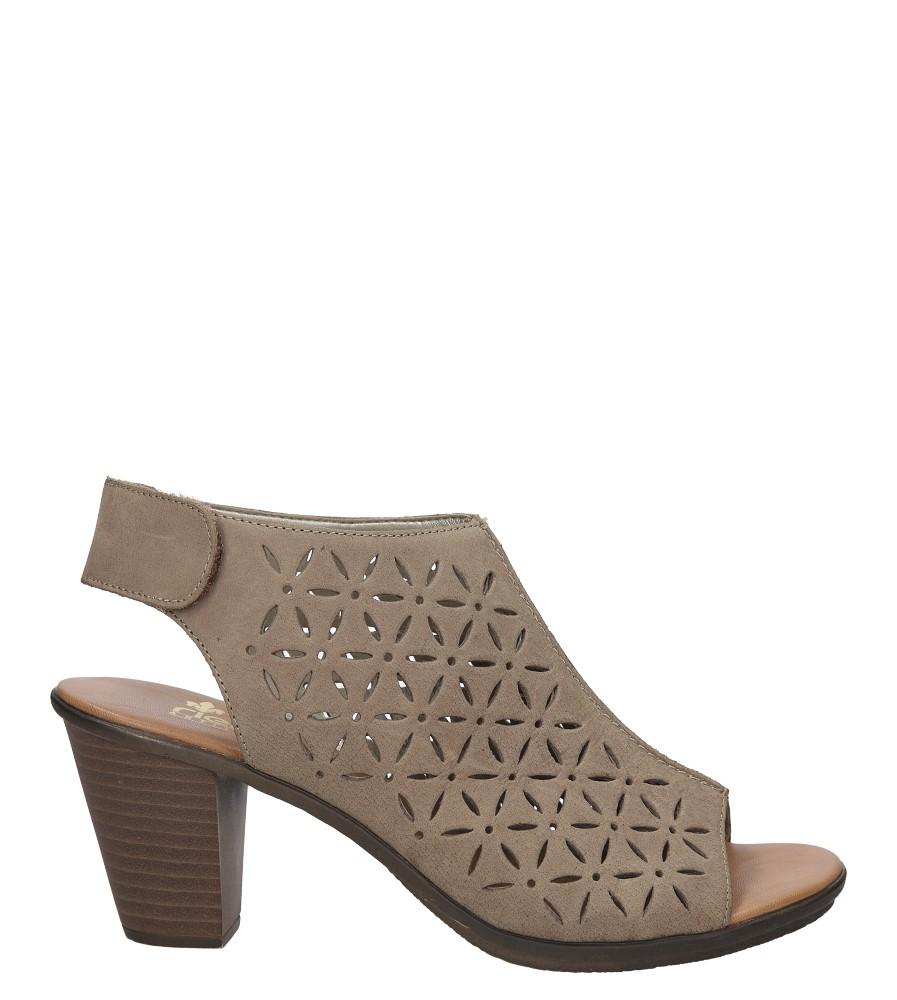 Sandały skórzane ażurowe na słupku Rieker 64196 sezon Lato