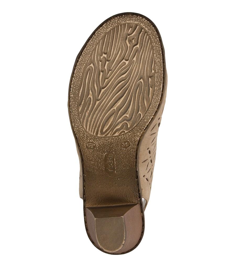 Sandały skórzane ażurowe na słupku Rieker 64196 wysokosc_platformy 1 cm