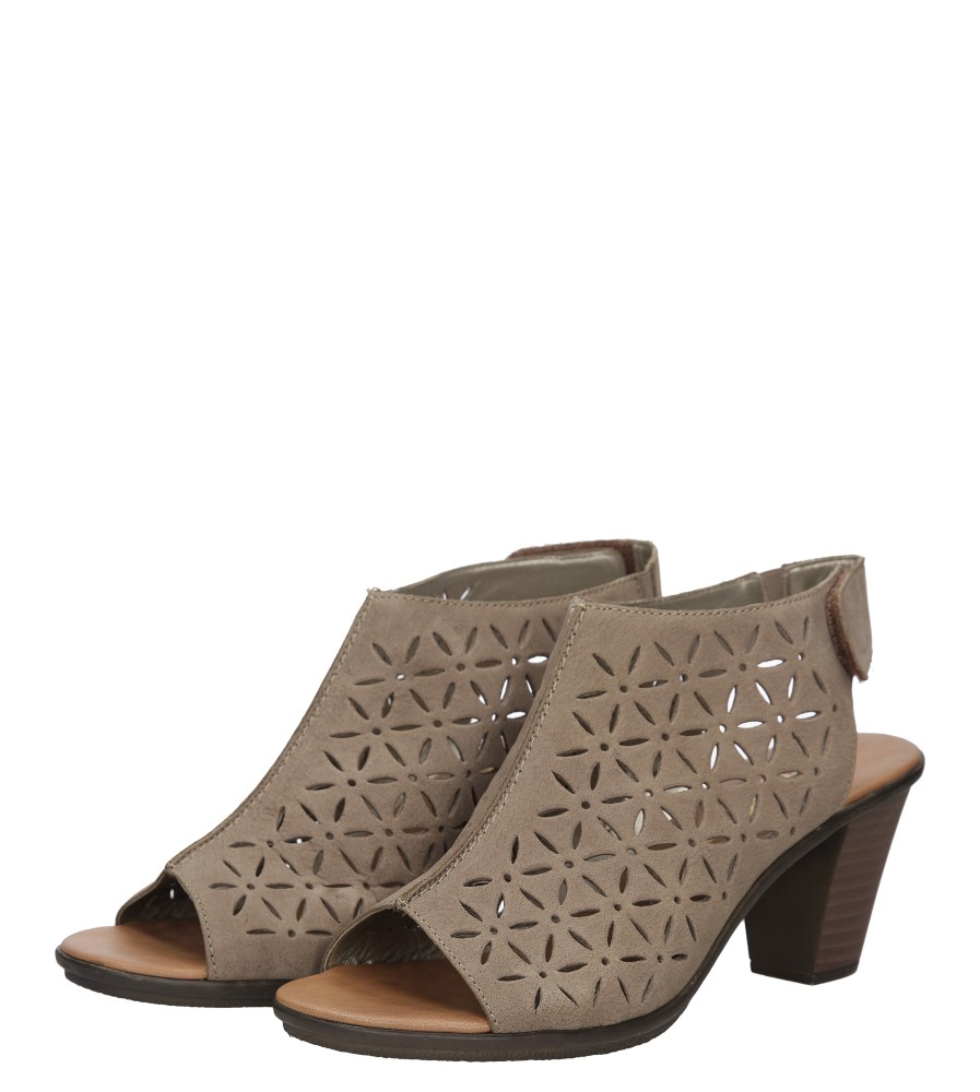 Sandały skórzane ażurowe na słupku Rieker 64196 wys_calkowita_buta 14 cm