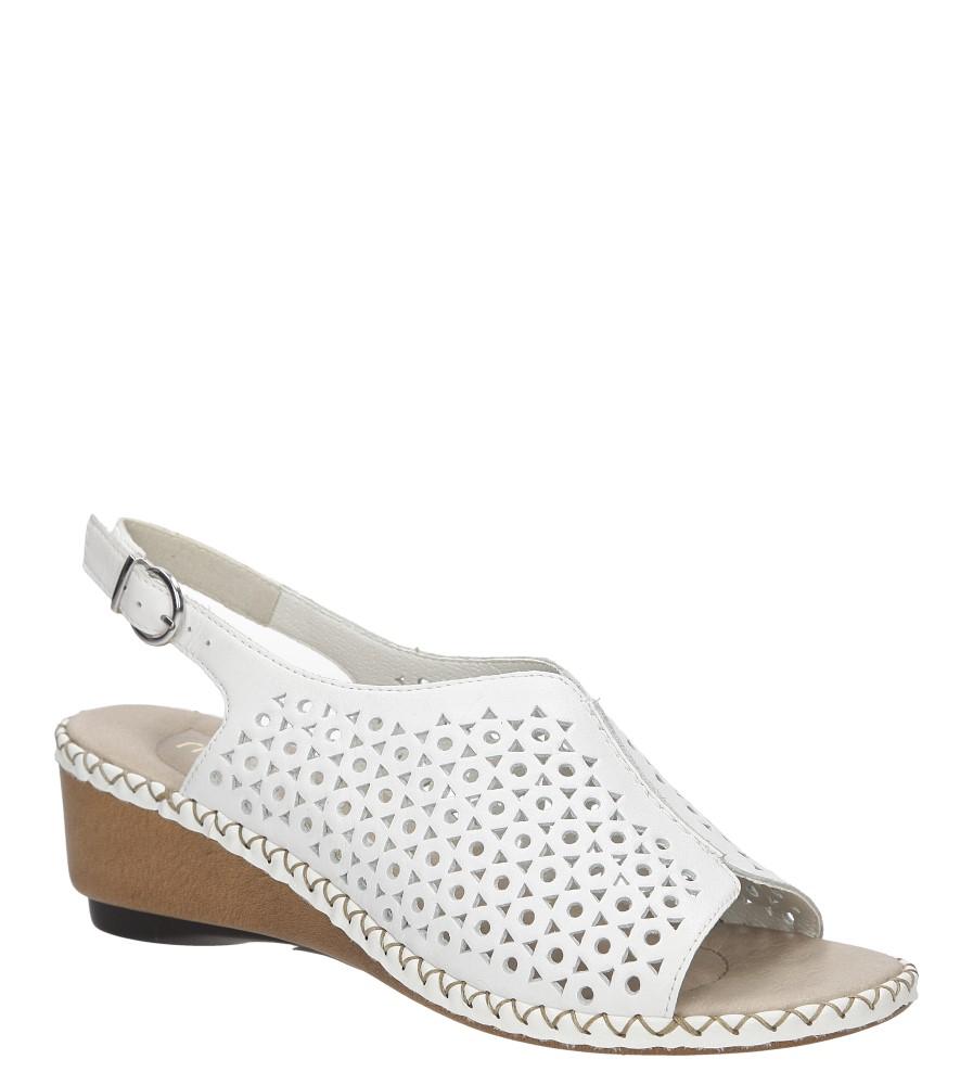 Damskie Sandały ażurowe Rieker 66165 biały;;