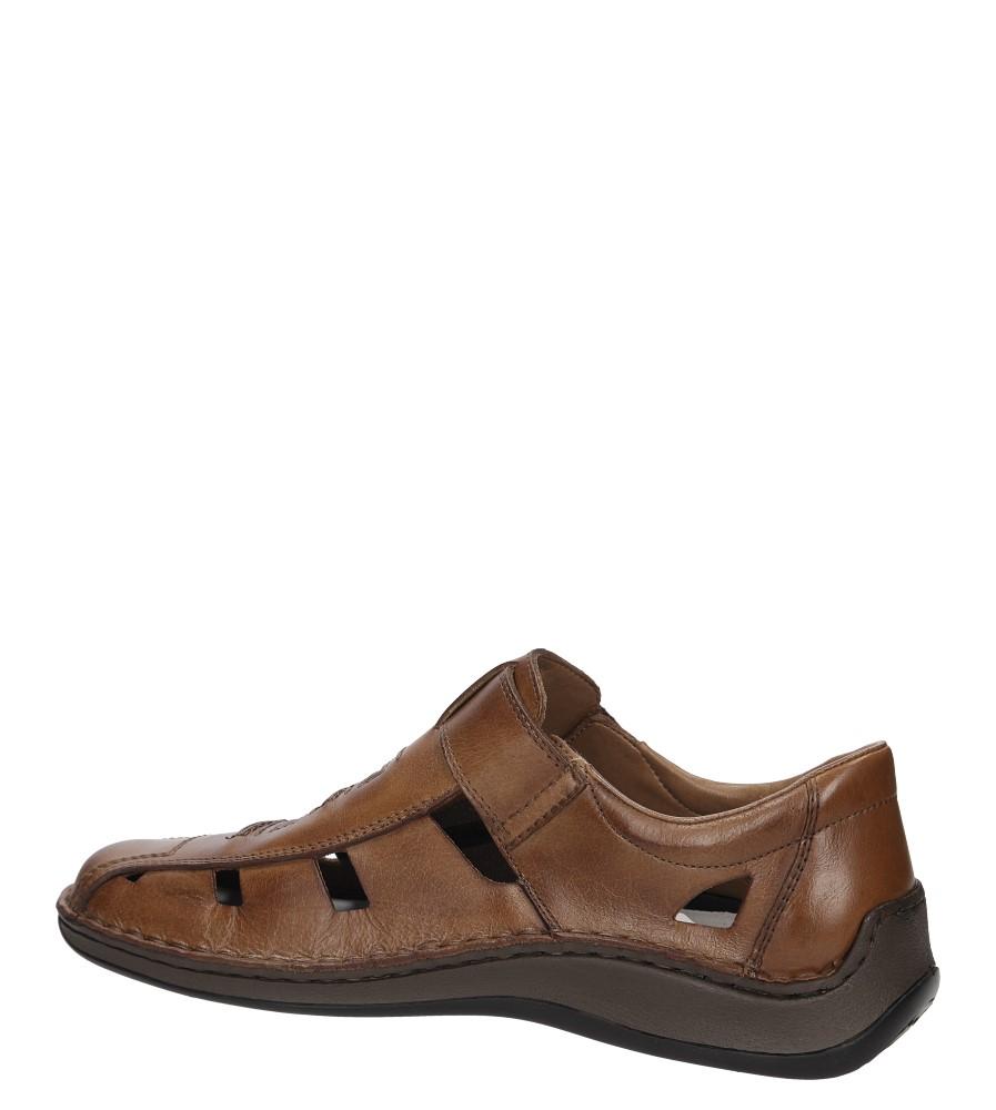 Półbuty skórzane Rieker 05283 kolor brązowy