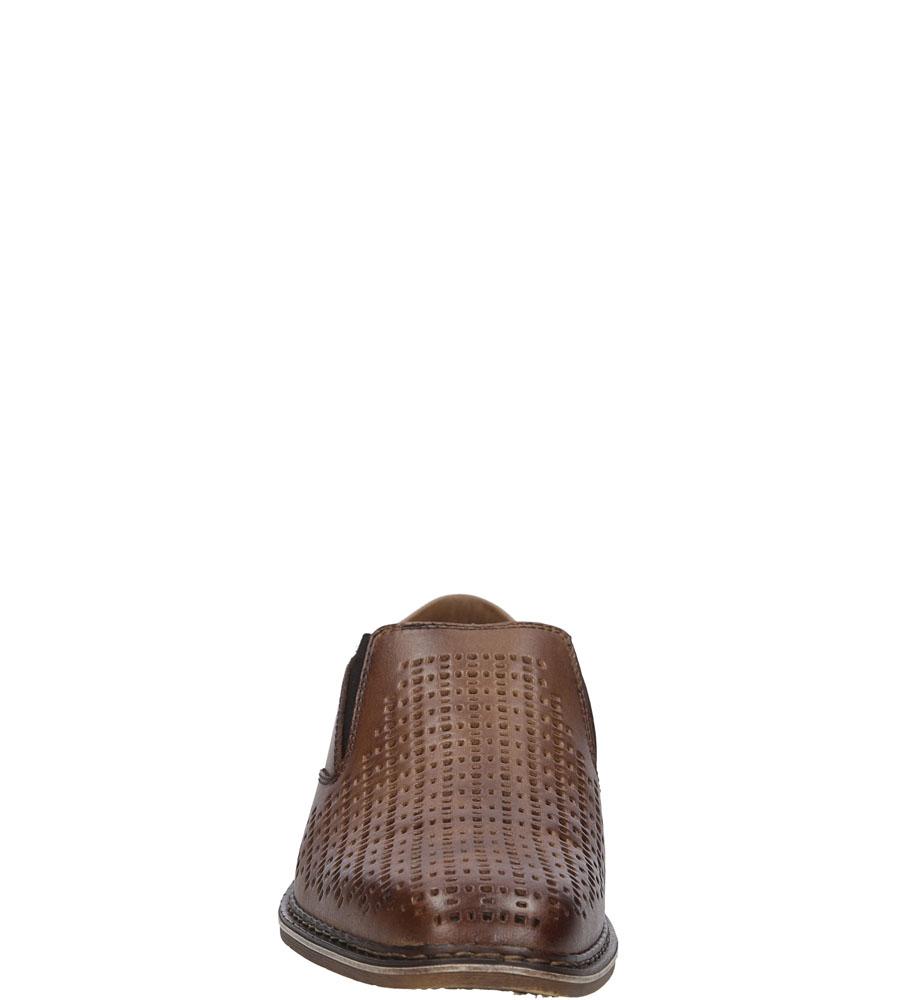 Męskie PÓŁBUTY RIEKER B1767 brązowy;;