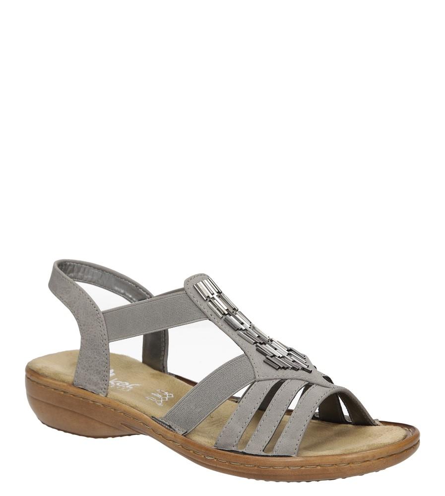 Szare sandały z ozdobami Rieker 60800-42
