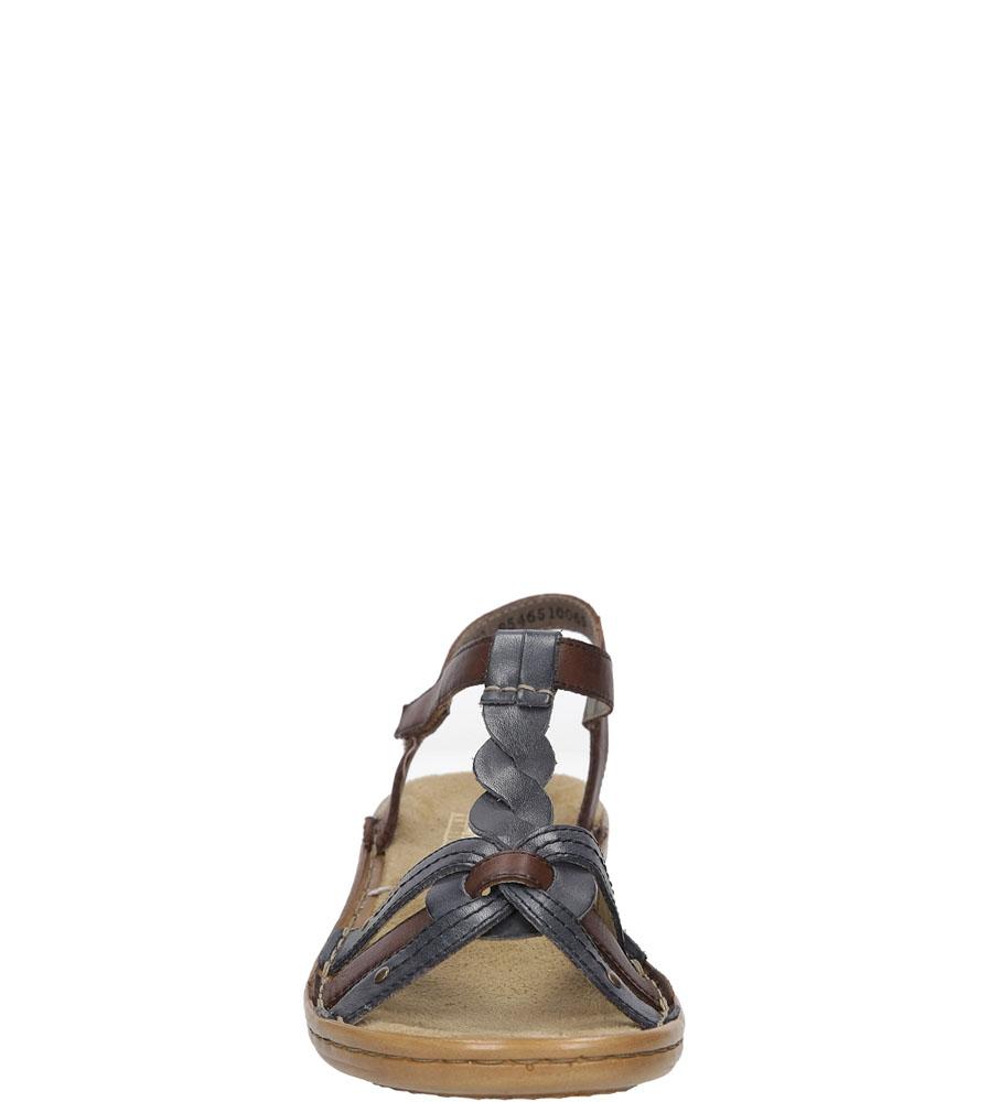 SANDAŁY RIEKER 60838 kolor brązowy, granatowy