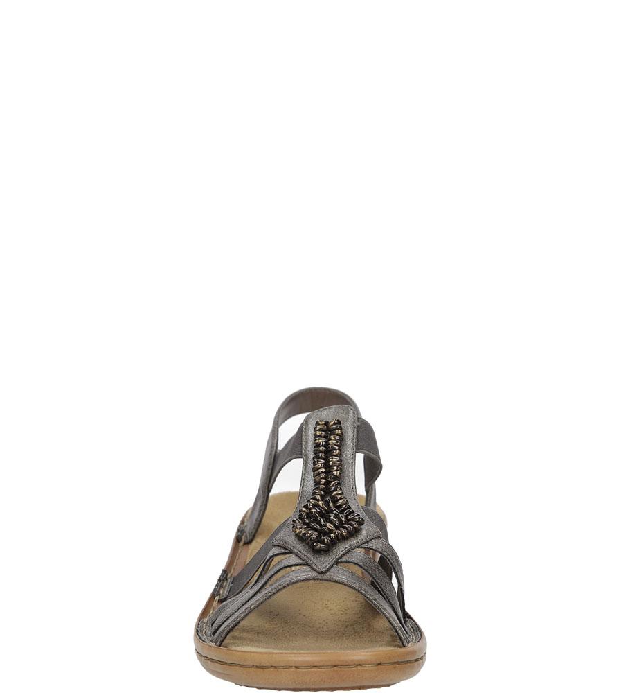 Sandały z ozdobami Rieker 60841 kolor szary