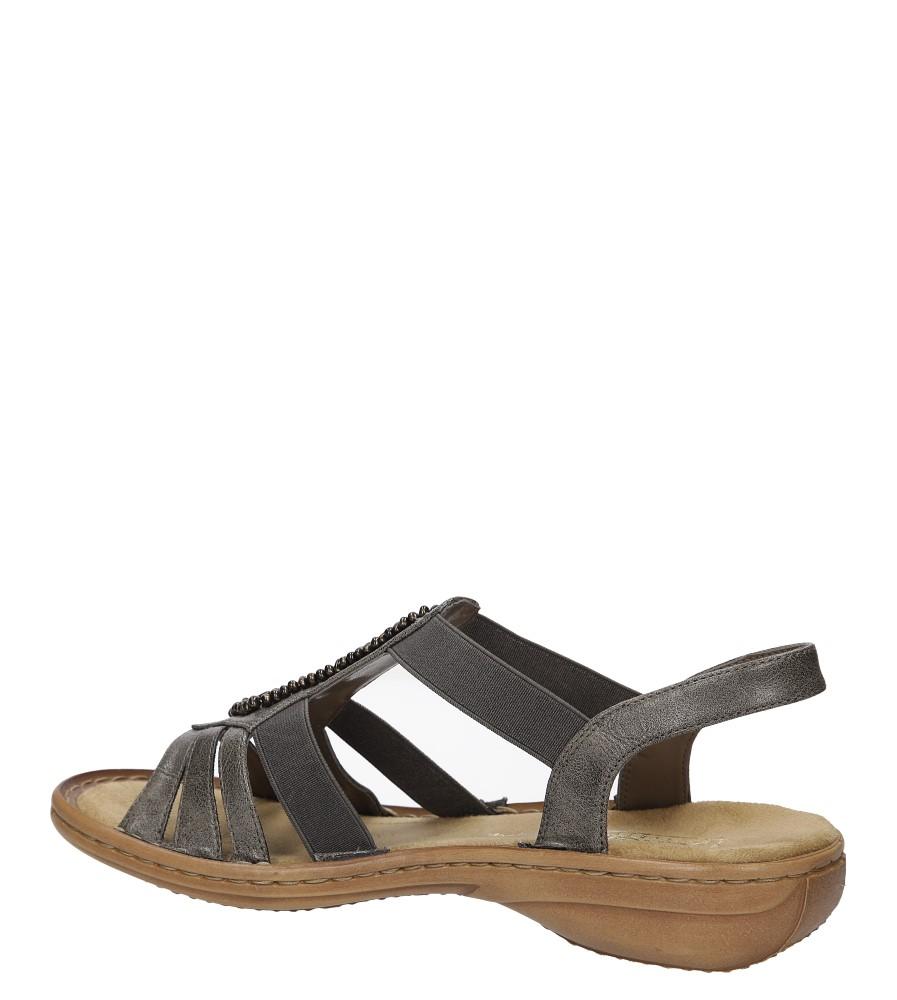Sandały z ozdobami Rieker 60841 wysokosc_obcasa 2 cm