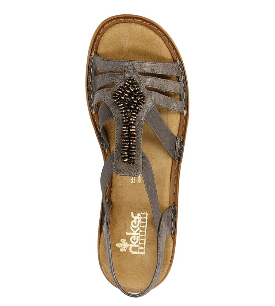 Sandały z ozdobami Rieker 60841 wysokosc_platformy 1 cm