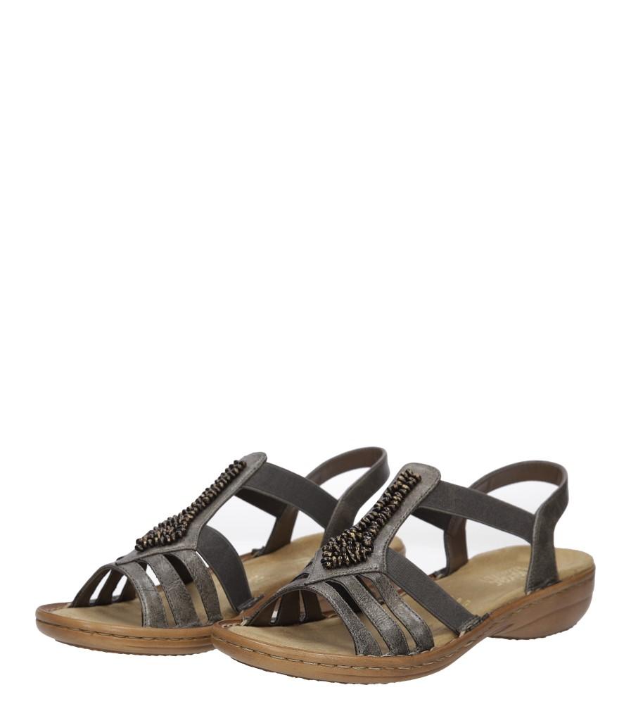 Sandały z ozdobami Rieker 60841 wierzch skóra ekologiczna