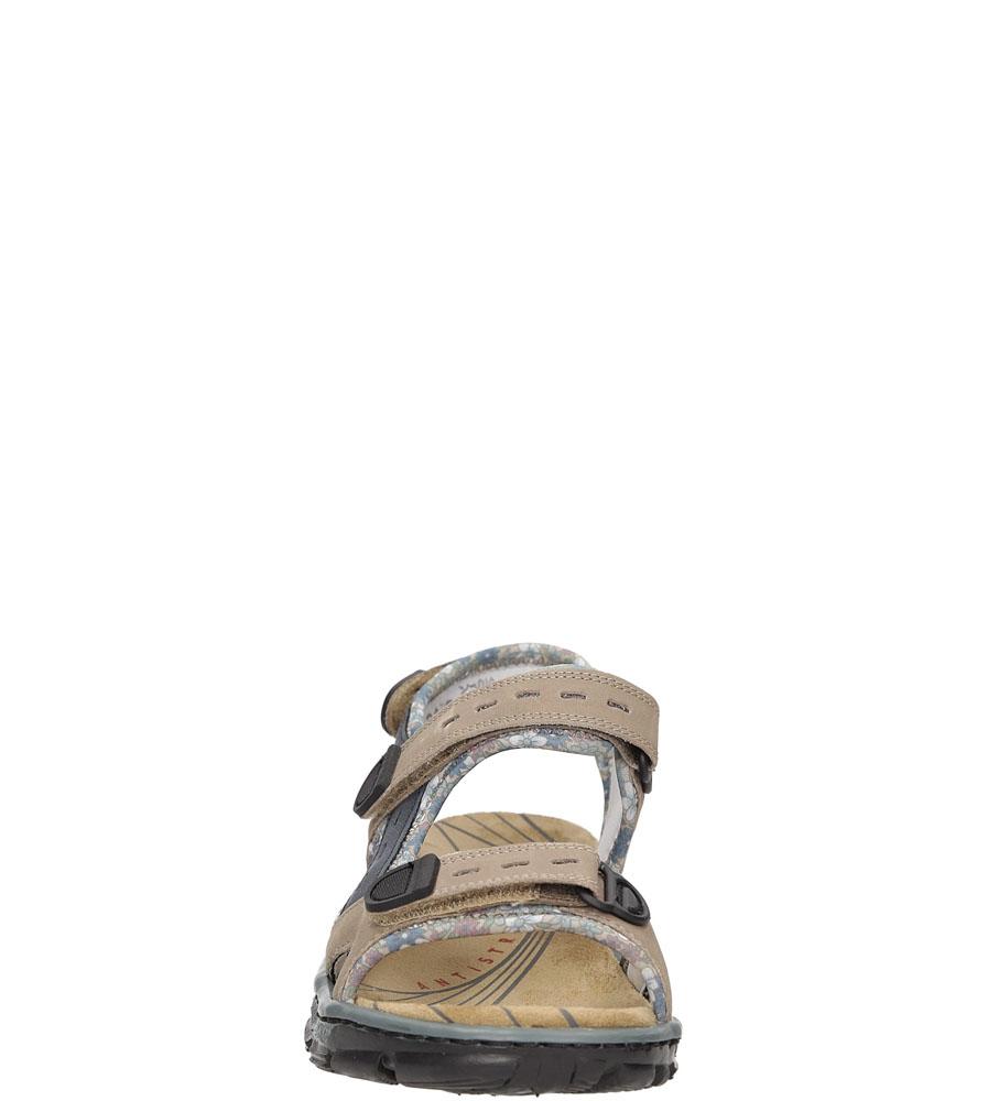 Sandały Rieker 68872 kolor ciemny beżowy