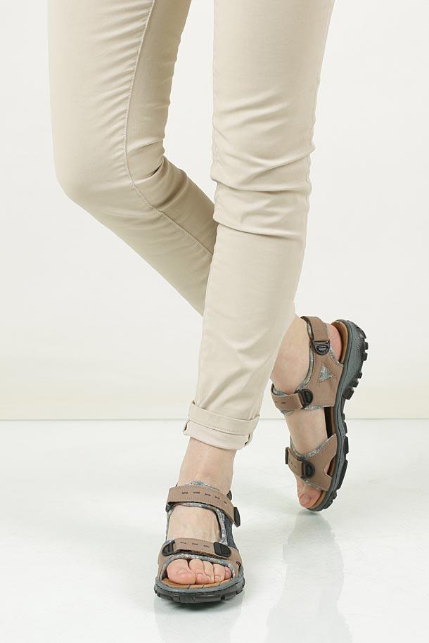 Sandały Rieker 68872 wierzch skóra/skóra ekologiczna