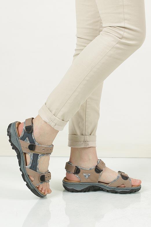 Sandały Rieker 68872 material_obcasa wysokogatunkowe tworzywo