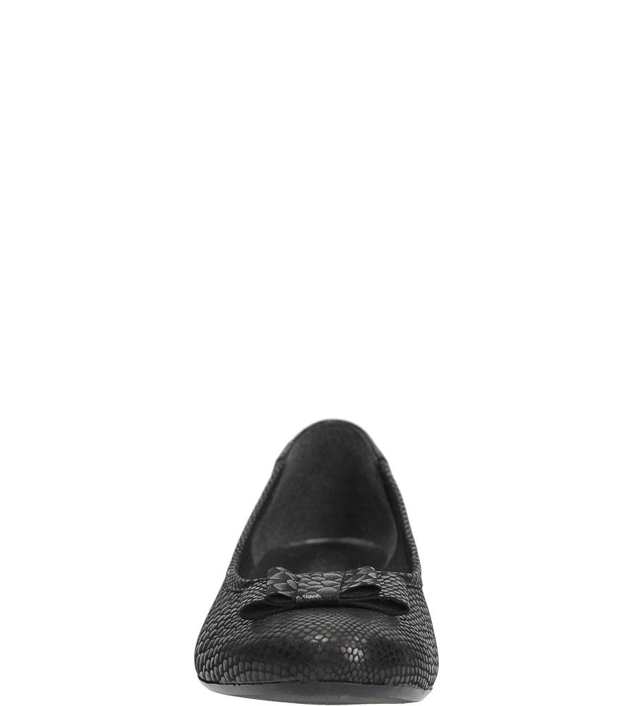 Baleriny z kokardą Casu 133 kolor czarny