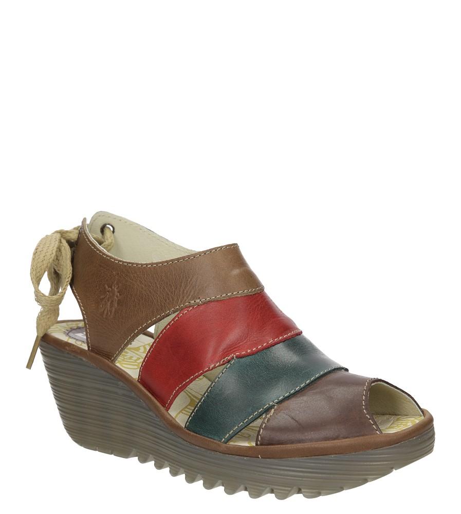 Damskie SANDAŁY FLY LONDON P50055301 brązowy;zielony;czerwony