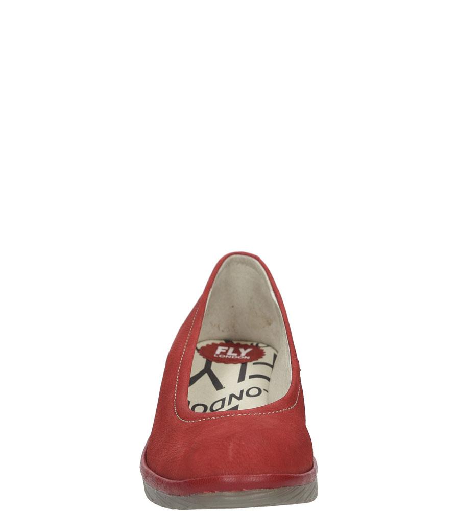 Damskie PÓŁBUTY FLY LONDON P5004240 czerwony;;