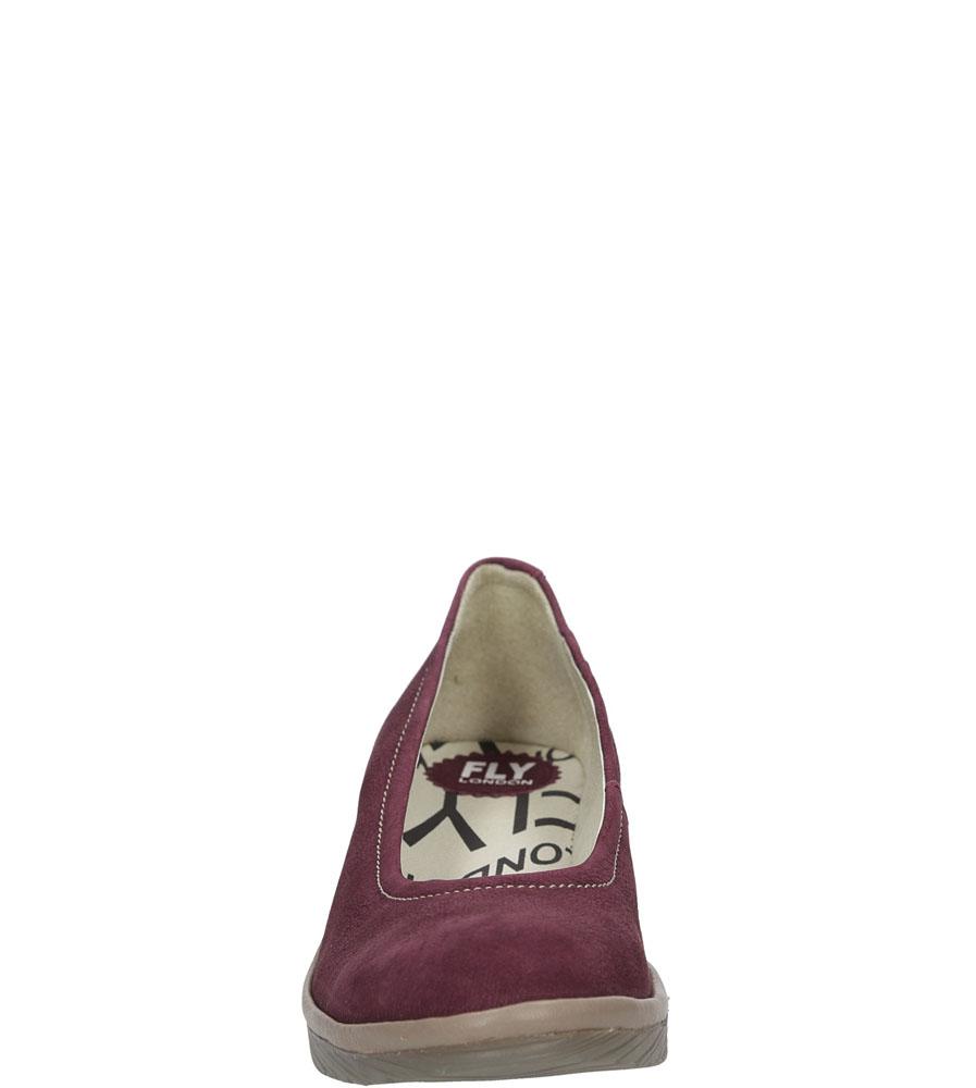 Damskie PÓŁBUTY FLY LONDON P5004240 fioletowy;;