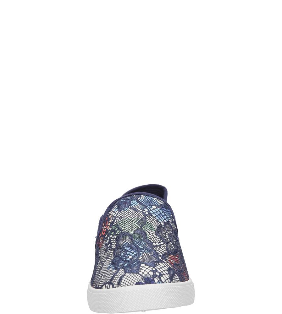 Damskie SLIP ON CASU D812-7 niebieski;;