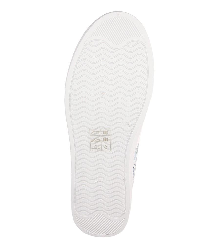 Damskie SLIP ON CASU D812-7 biały;;