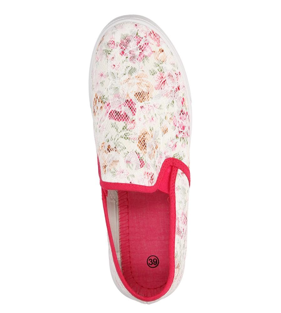 Damskie SLIP ON CASU D812-7 różowy;biały;