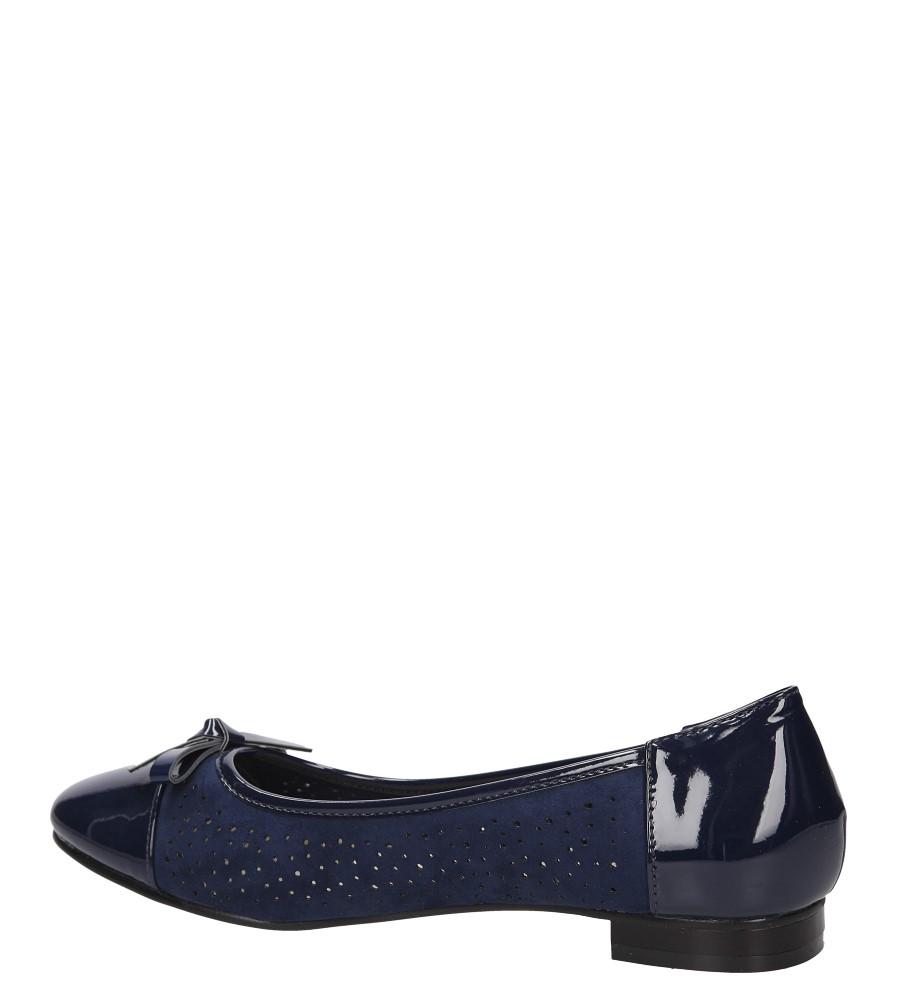 Damskie BALERINY S.BARSKI L83606 niebieski;;