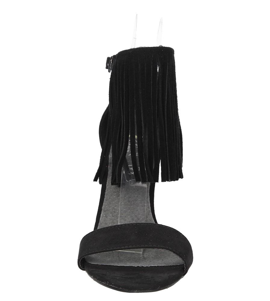 Sandały na platformie Casu LS39602 kolor czarny
