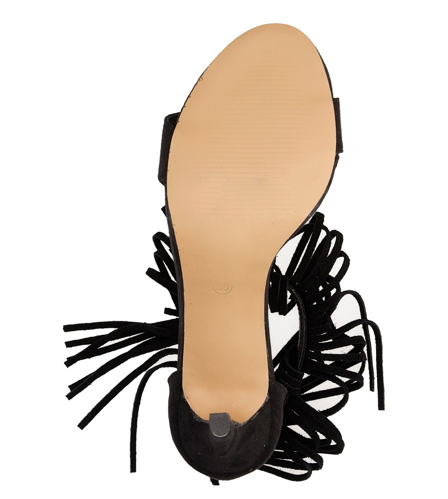 Sandały na platformie Casu LS39602 wierzch skóra ekologiczna - zamsz