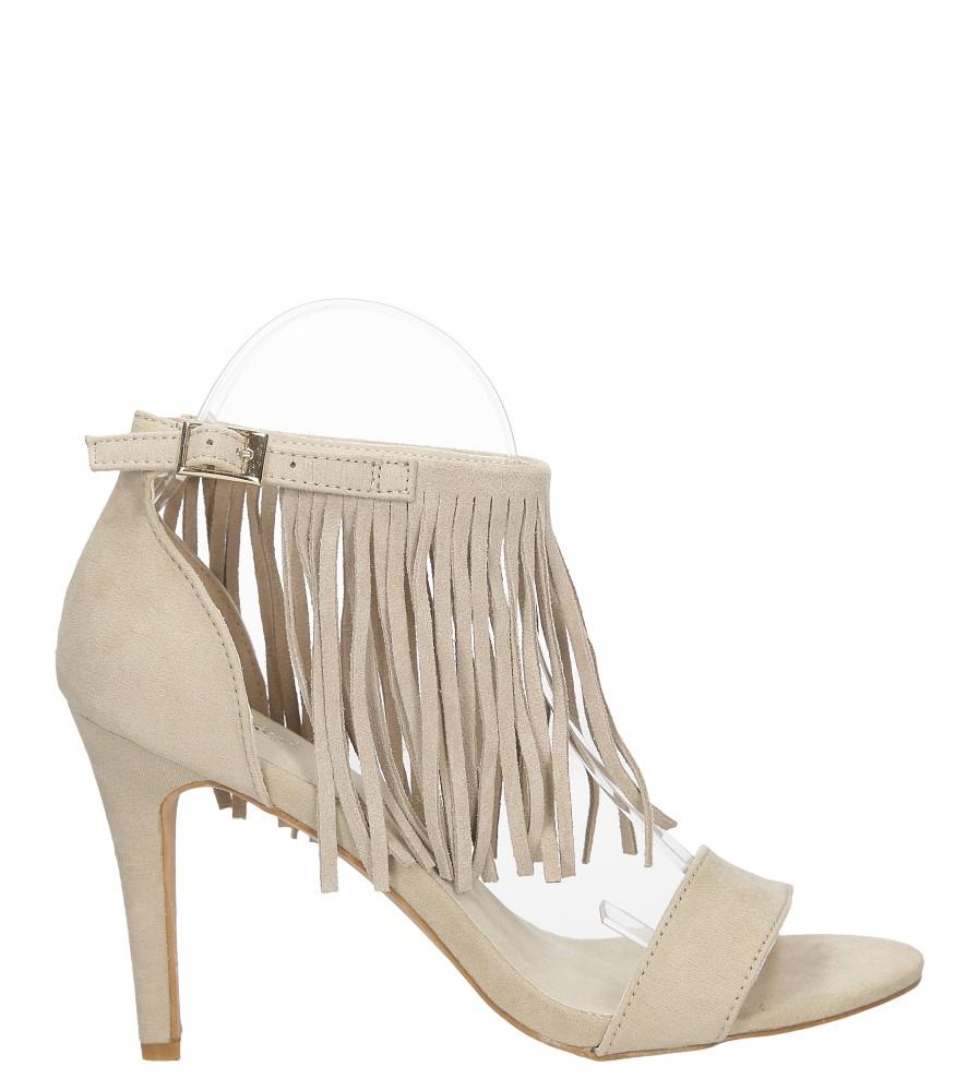 Sandały z frędzlami na szpilce Casu  LS39602 sezon Lato
