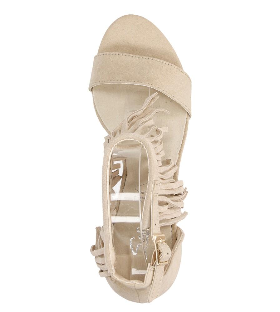 Sandały z frędzlami na szpilce Casu  LS39602 wys_calkowita_buta 18 cm