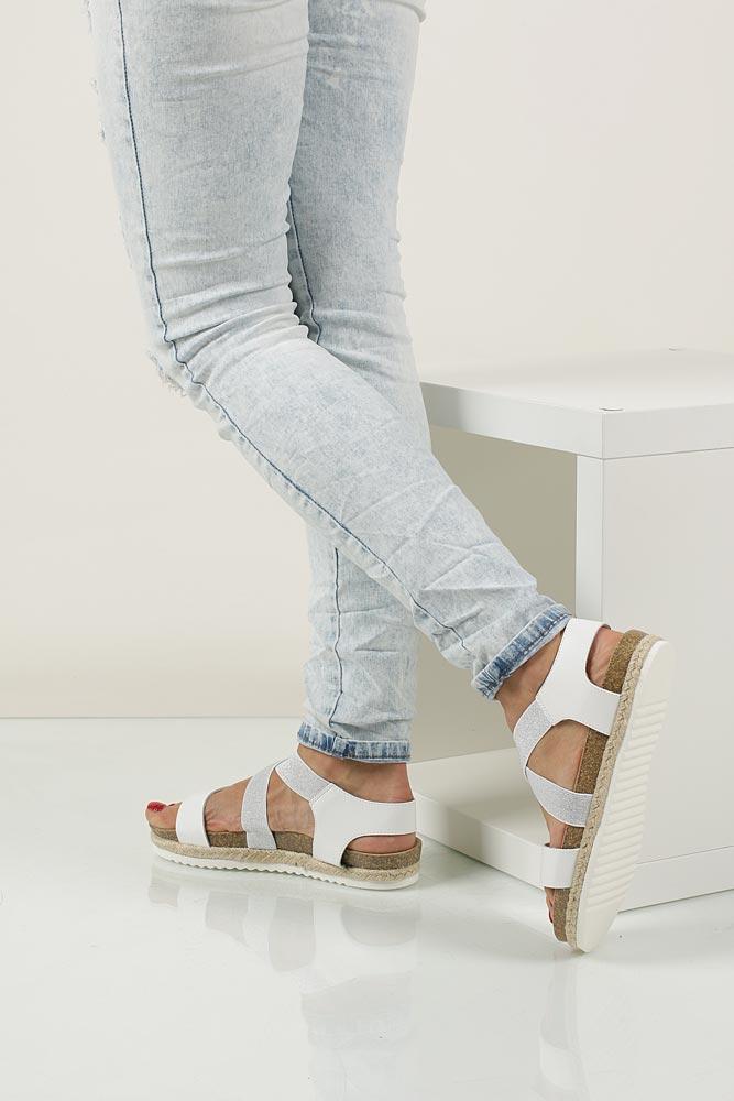 Sandały na platformie S.Barski LS83607 material_obcasa wysokogatunkowe tworzywo