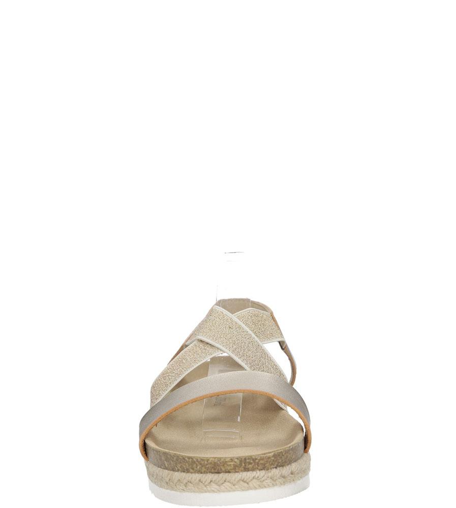 Sandały na platformie S.Barski LS83607 kolor złoty