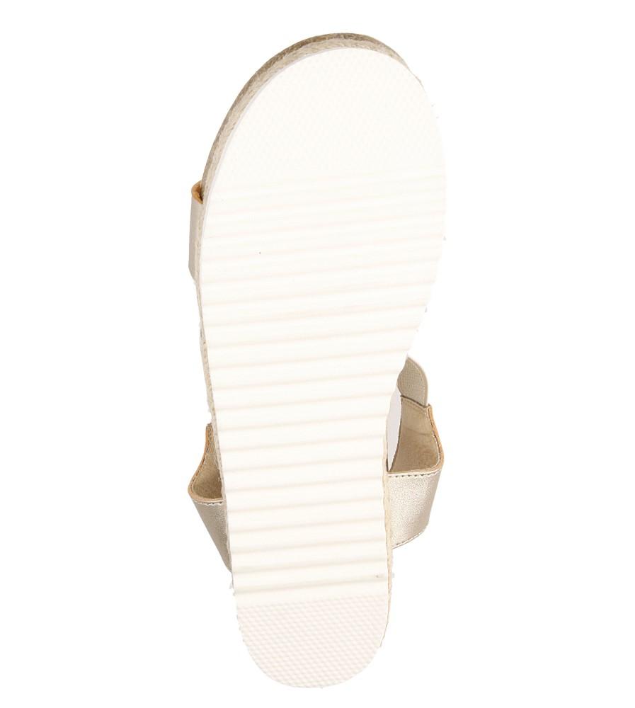 Sandały na platformie S.Barski LS83607 wierzch skóra ekologiczna