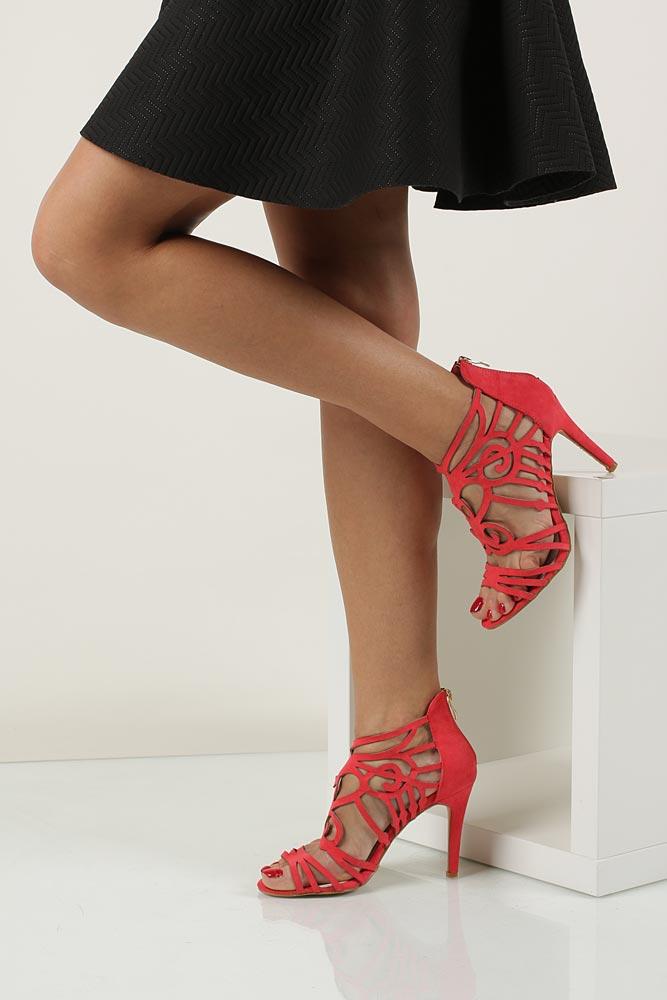 Damskie Sandały Casu LS39600 czerwony;;
