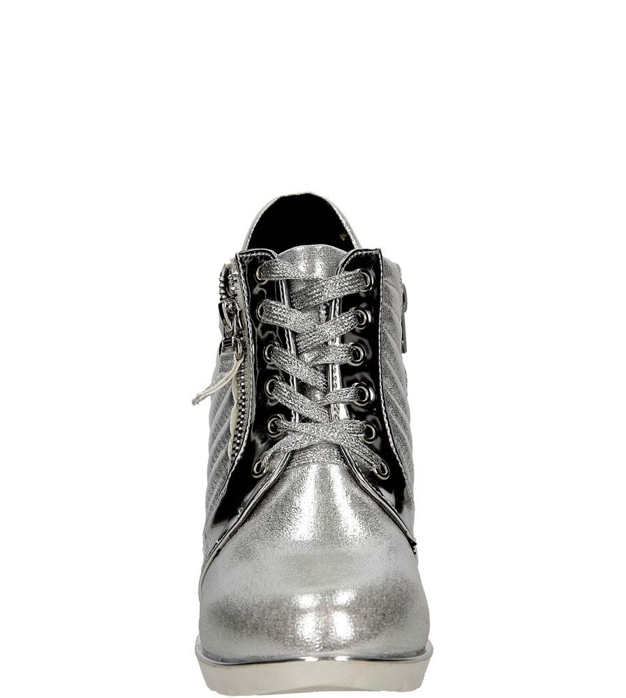 SNEAKERSY VICES 11049 kolor srebrny