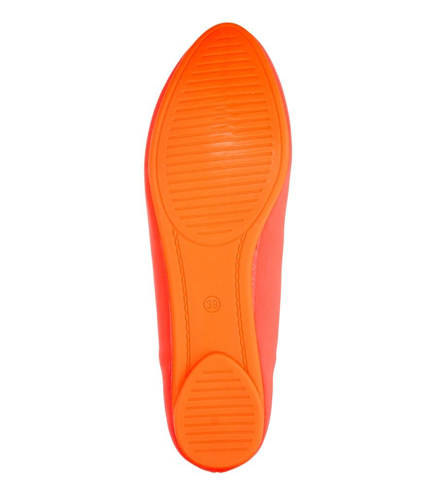 Damskie BALERINY VICES 11038 pomarańczowy;;