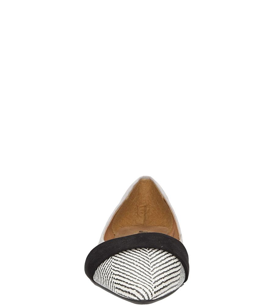 Damskie BALERINY JEZZI 71W6BL3002 szary;czarny;biały