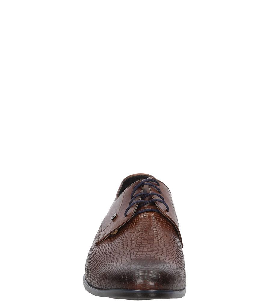 Męskie WIZYTOWE WINDSSOR 624 brązowy;;